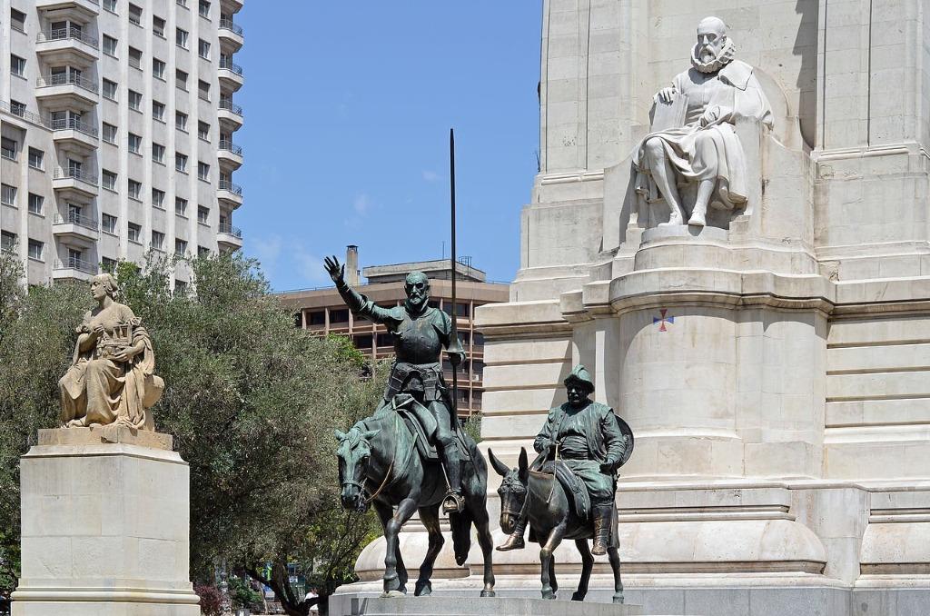 pamyatnik servantesu don kihotu i sancho pansa Город Мадрид - достопримечательности