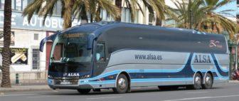 Междугородный автобус в Испании