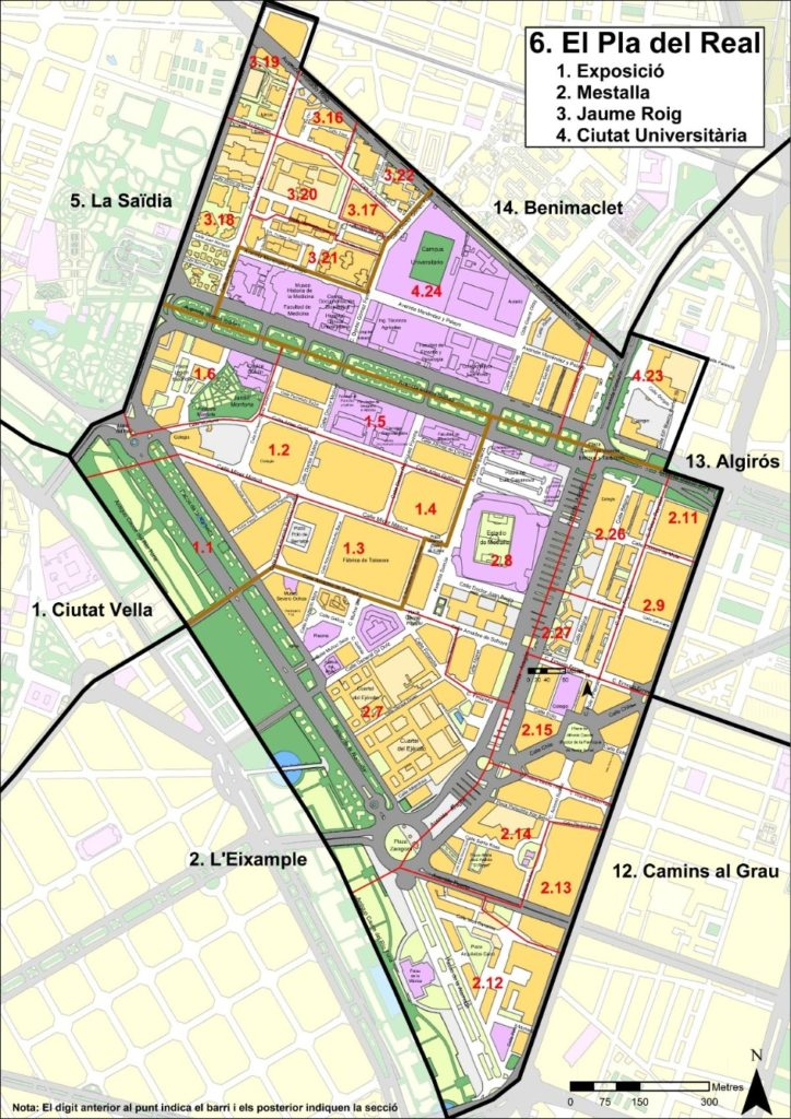 el pla del real kvartaly Районы Валенсии, часть 3 (4-6, Campanar, La Zaidia, El Pla del Real)