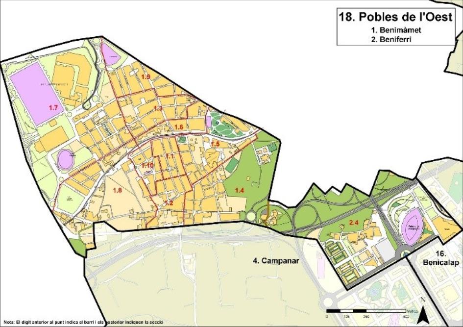 kvartaly poblats de loest Районы Валенсии, часть 7 (16-19, Benicalap, Pobles del Nord, Poblats de l'Oest, Pobles del Sud)