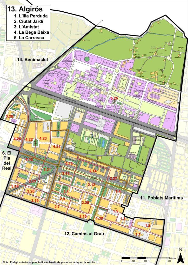 kvartaly rajona algiros v valensii Районы Валенсии, часть 6 (13-15, Algirós, Benimaclet, Rascanya)