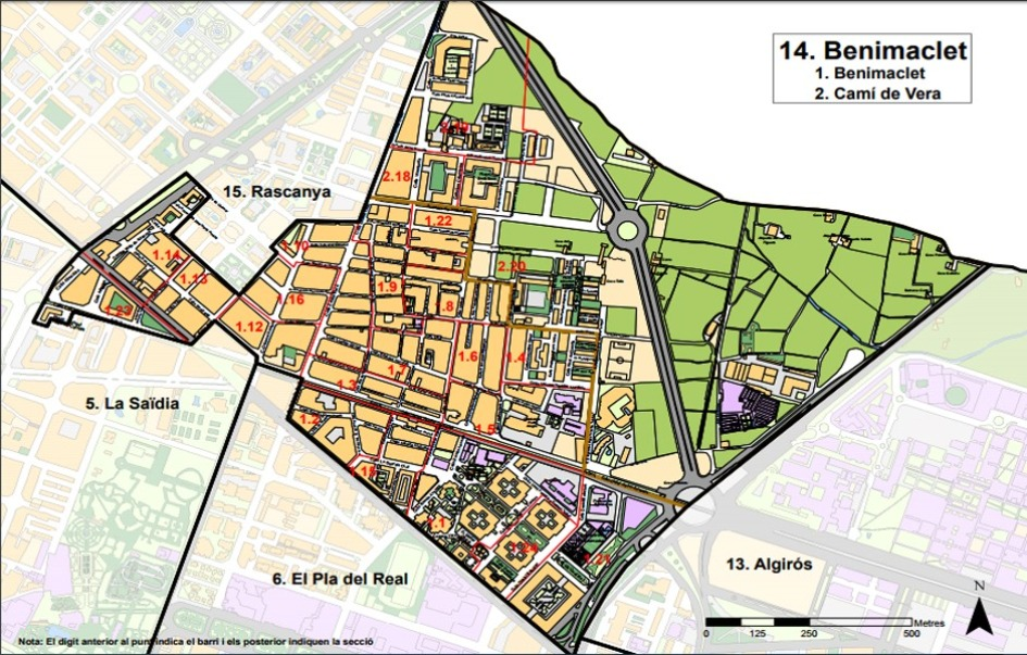 kvartaly rajona benimaclet v valensii Районы Валенсии, часть 6 (13-15, Algirós, Benimaclet, Rascanya)