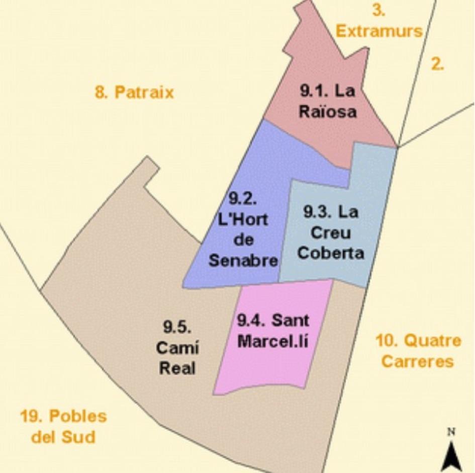 kvartaly rajona jesus Районы Валенсии, часть 4 (7-9, L'Olivereta, Patraix, Jesus)