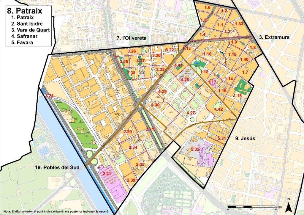 kvartaly rajona patraix v valensii Районы Валенсии, часть 4 (7-9, L'Olivereta, Patraix, Jesus)