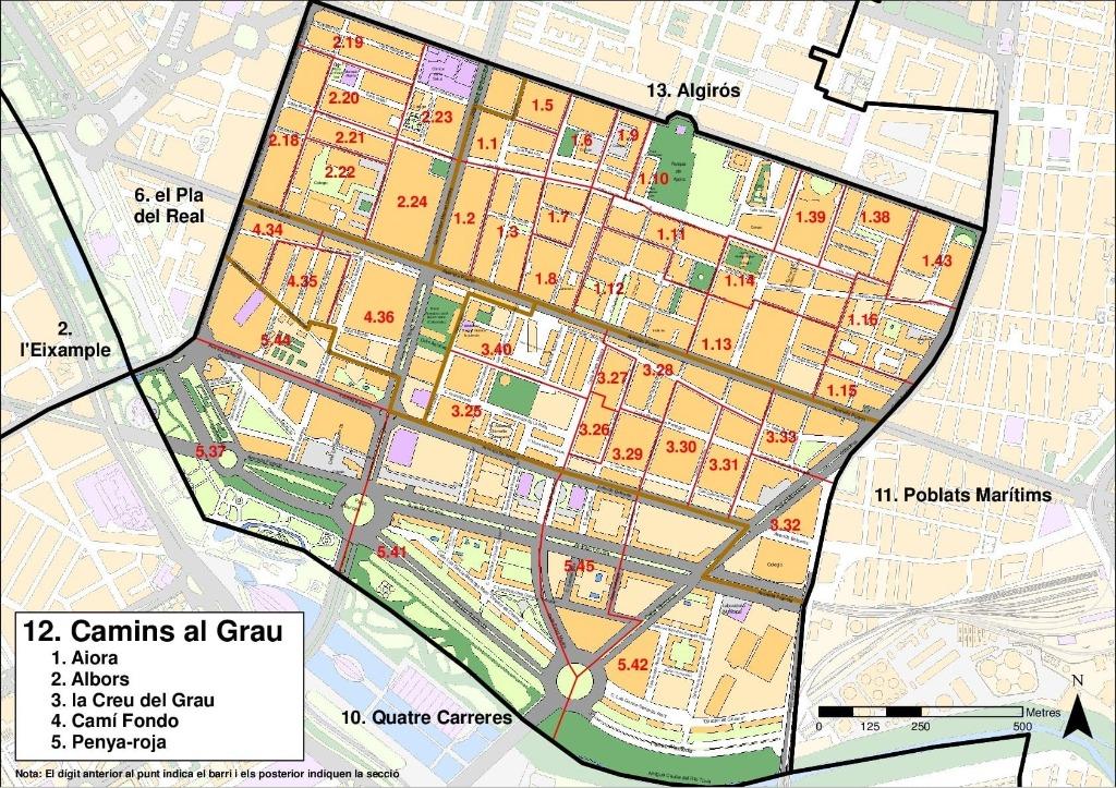 kvartaly valensii rajon camins al grau Районы Валенсии, часть 5 (10-12, Quatre Carreres, Poblats Marítims, Camins al Grau)
