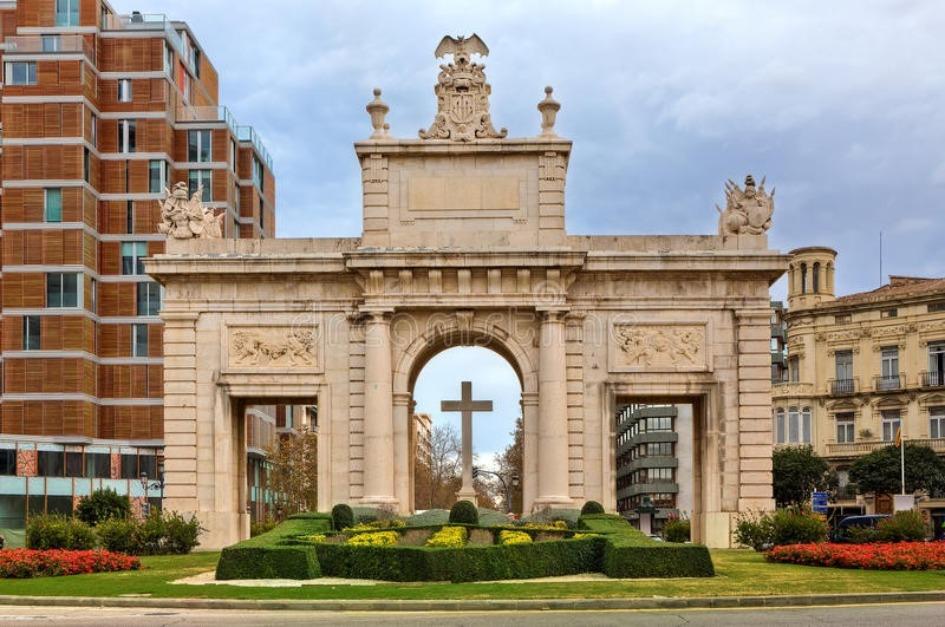 morskie vorota puerta del mar Районы Валенсии, часть 2 (1-3, Ciutat Vella, L'Eixample, Extramurs)
