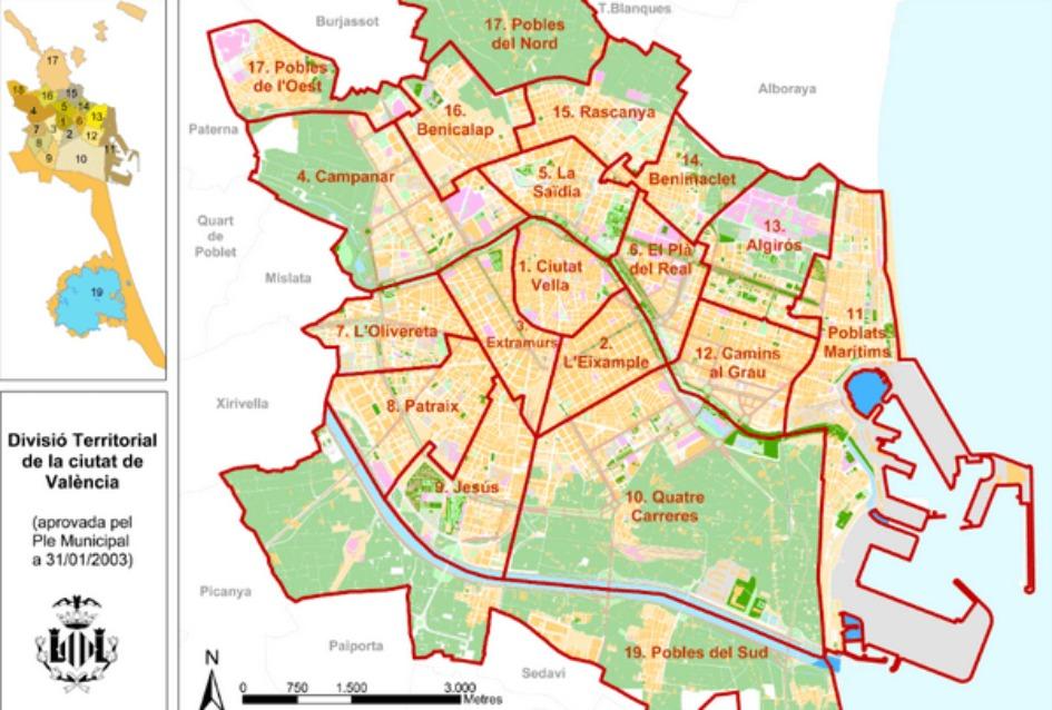 nedvizhimost kupit v tsentre valensii Районы Валенсии, часть 1 (Выбор жилья в Валенсии)