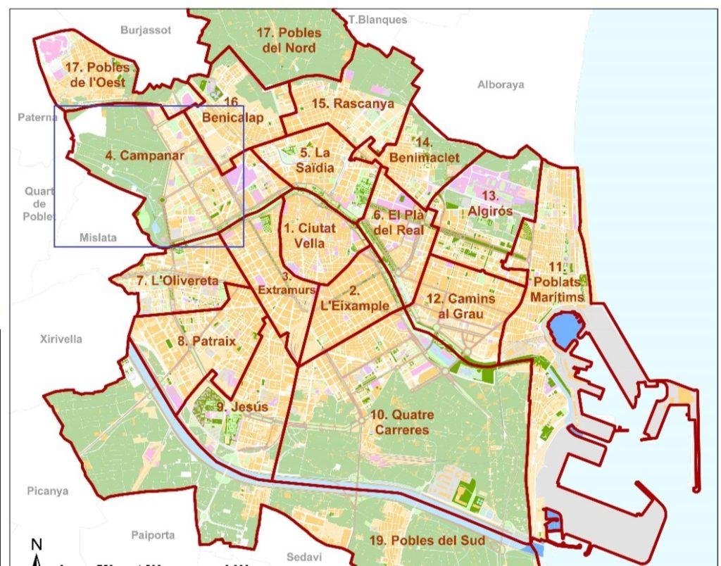 rajony valensii kampanar Районы Валенсии, часть 3 (4-6, Campanar, La Zaidia, El Pla del Real)